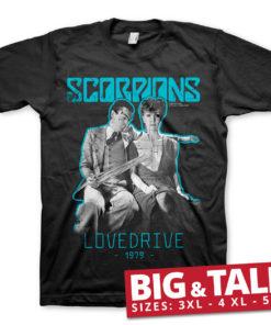 T-shirt Scorpions Lovedrive grandes Tailles de couleur Noir