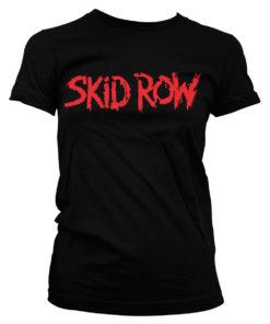 T-Shirt Skid Row Logo pour Femme de couleur Noir