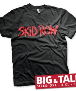 T-shirt Skid Row Logo grandes Tailles de couleur Noir