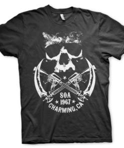 T-shirt SOA 1967 Skull grandes Tailles de couleur Noir