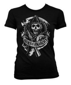 T-Shirt SOA Scroll Reaper pour Femme de couleur Noir