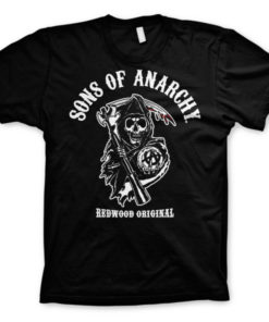T-shirt Sons Of Anarchy - Redwood Original grandes Tailles de couleur Noir