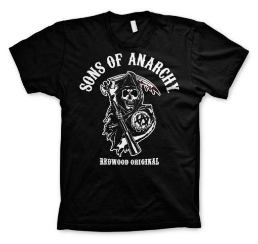 T-shirt Sons Of Anarchy - Redwood Original grandes Tailles de couleur Noir