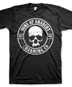 T-shirt Sons Of Anarchy Seal grandes Tailles de couleur Noir