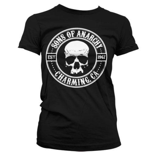 T-Shirt Sons Of Anarchy Seal pour Femme de couleur Noir