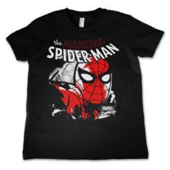 T-Shirt Spider-Man Close Up  pour enfant de couleur Noir