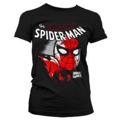 T-Shirt Spider-Man Close Up pour Femme de couleur Noir