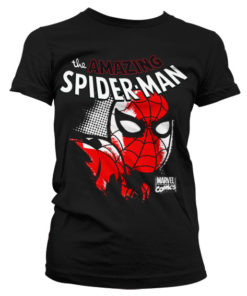 T-Shirt Spider-Man Close Up pour Femme de couleur Noir