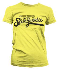 T-Shirt Spongadelic pour Femme de couleur Jaune