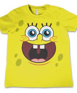 T-Shirt Sponge Happy Face pour enfant de couleur Jaune