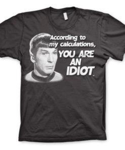 T-shirt Star Trek - According To My Calculations grandes Tailles de couleur Gris Foncé