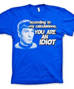 T-shirt Star Trek - According To My Calculations grandes Tailles de couleur Bleu