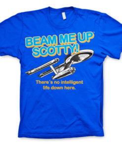 T-shirt Star Trek - Beam Me Up Scotty grandes Tailles de couleur Bleu