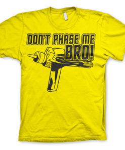 T-shirt Star Trek - Dont Phase Me Bro grandes Tailles de couleur Jaune