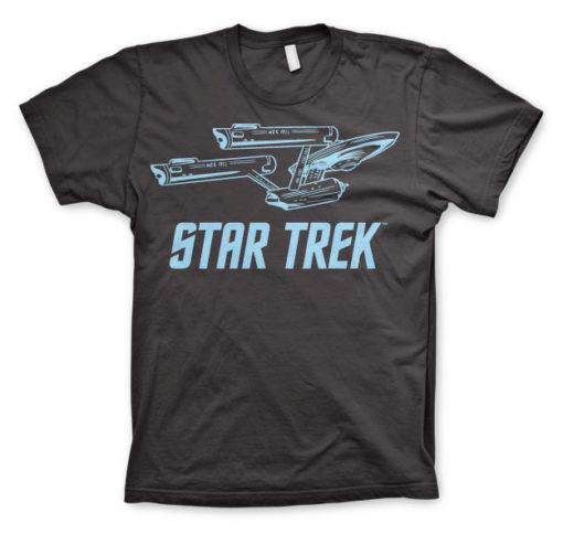 T-shirt Star Trek / Enterprise Ship grandes Tailles de couleur Gris Foncé