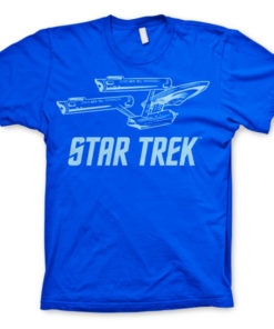 T-shirt Star Trek / Enterprise Ship grandes Tailles de couleur Bleu