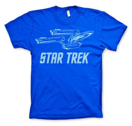 T-shirt Star Trek / Enterprise Ship grandes Tailles de couleur Bleu