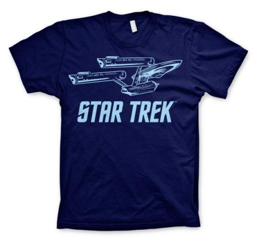 T-shirt Star Trek / Enterprise Ship grandes Tailles de couleur Bleu Nuit