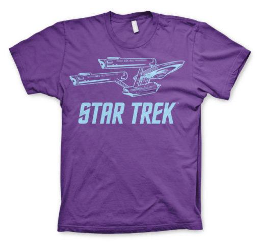 T-shirt Star Trek / Enterprise Ship grandes Tailles de couleur Violet