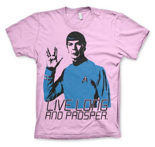 T-shirt Star Trek - Live Long And Prosper grandes Tailles de couleur Rose