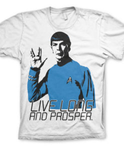 T-shirt Star Trek - Live Long And Prosper grandes Tailles de couleur Blanc