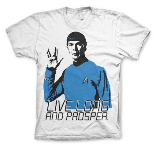 T-shirt Star Trek - Live Long And Prosper grandes Tailles de couleur Blanc