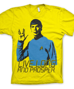 T-shirt Star Trek - Live Long And Prosper grandes Tailles de couleur Jaune