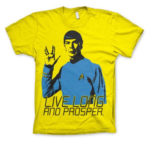 T-shirt Star Trek - Live Long And Prosper grandes Tailles de couleur Jaune