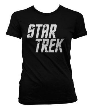 T-Shirt Star Trek Logo pour Femme de couleur Noir