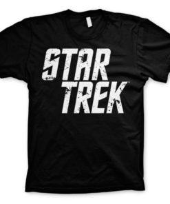 T-shirt Star Trek Logo grandes Tailles de couleur Noir