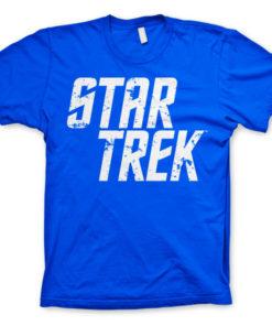 T-shirt Star Trek Logo grandes Tailles de couleur Bleu