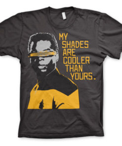 T-shirt Star Trek - My Shades Are Cooler Than Yours grandes Tailles de couleur Gris Foncé