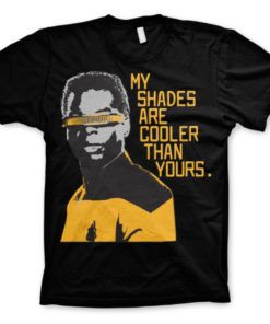 T-shirt Star Trek - My Shades Are Cooler Than Yours grandes Tailles de couleur Noir