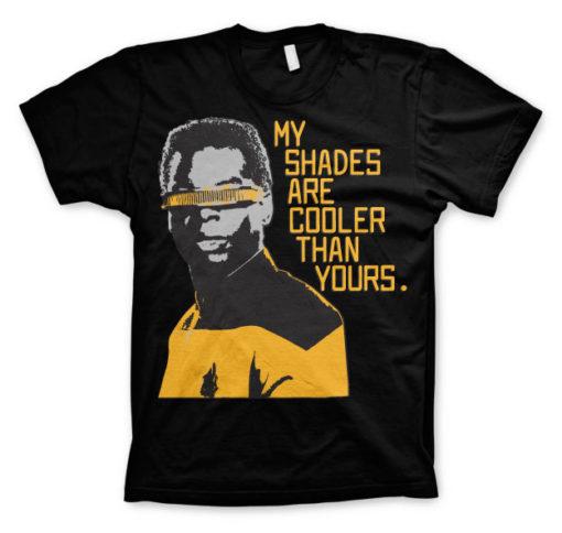 T-shirt Star Trek - My Shades Are Cooler Than Yours grandes Tailles de couleur Noir