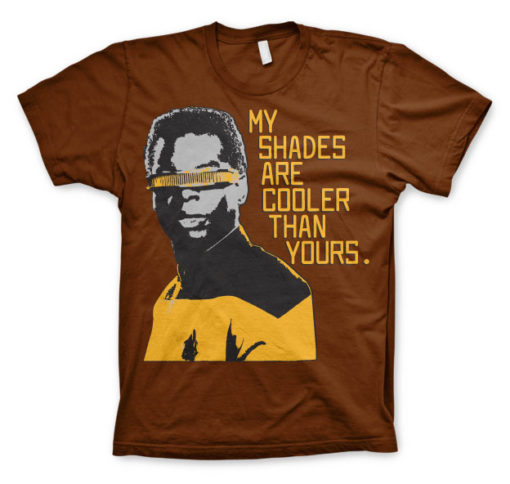T-shirt Star Trek - My Shades Are Cooler Than Yours grandes Tailles de couleur Marron