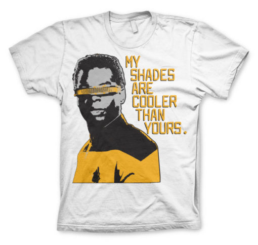 T-shirt Star Trek - My Shades Are Cooler Than Yours grandes Tailles de couleur Blanc