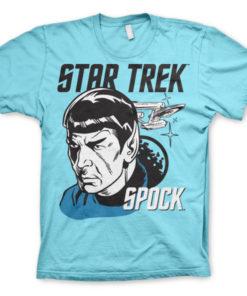 T-shirt Star Trek & Spock grandes Tailles de couleur Bleu Ciel