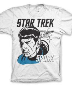 T-shirt Star Trek & Spock grandes Tailles de couleur Blanc