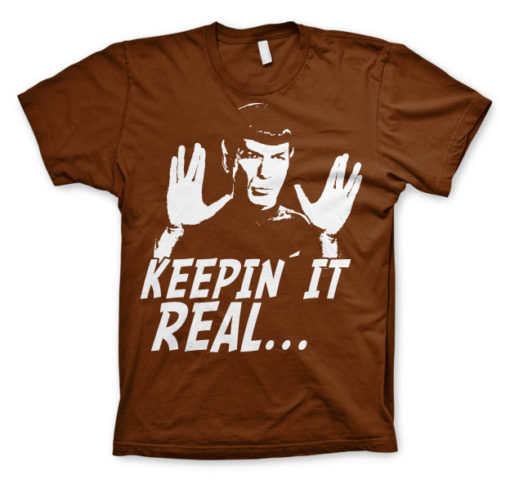T-shirt Star Trek - Spock Keepin? It Real grandes Tailles de couleur Marron