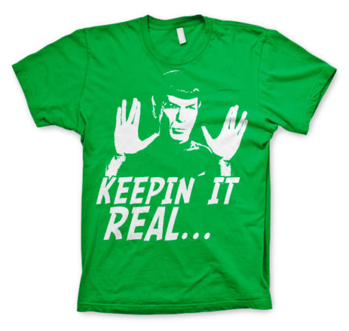 T-shirt Star Trek - Spock Keepin? It Real grandes Tailles de couleur Vert