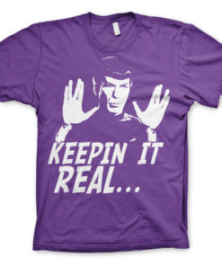 T-shirt Star Trek - Spock Keepin? It Real grandes Tailles de couleur Violet