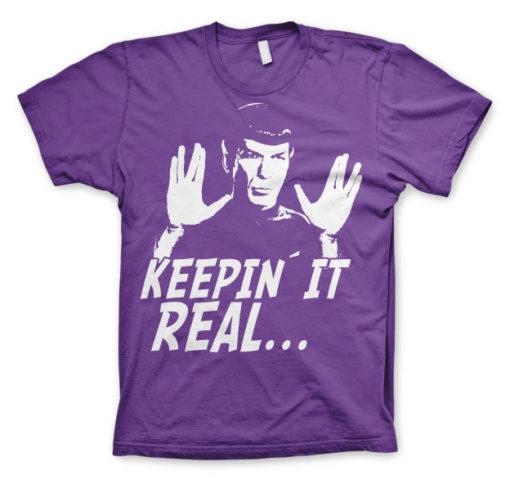 T-shirt Star Trek - Spock Keepin? It Real grandes Tailles de couleur Violet