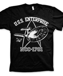 T-shirt Star Trek - U.S.S. Enterprise grandes Tailles de couleur Noir
