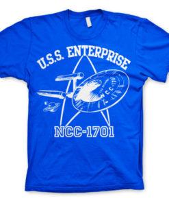 T-shirt Star Trek - U.S.S. Enterprise grandes Tailles de couleur Bleu