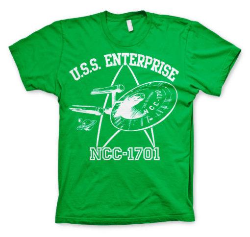 T-shirt Star Trek - U.S.S. Enterprise grandes Tailles de couleur Vert