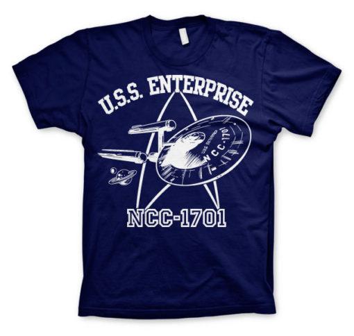 T-shirt Star Trek - U.S.S. Enterprise grandes Tailles de couleur Bleu Nuit