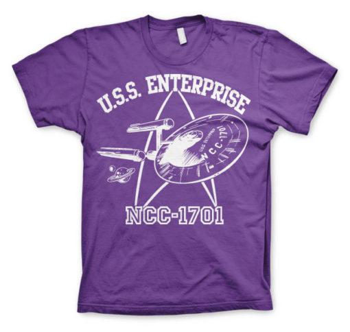 T-shirt Star Trek - U.S.S. Enterprise grandes Tailles de couleur Violet