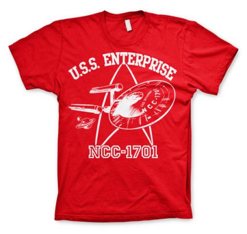 T-shirt Star Trek - U.S.S. Enterprise grandes Tailles de couleur Rouge