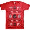 T-shirt Star Wars AT-AT X-Mas Knit grandes Tailles de couleur Rouge