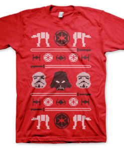 T-shirt Star Wars AT-AT X-Mas Knit grandes Tailles de couleur Rouge